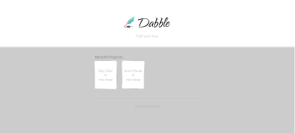 Dabble Writer - projects