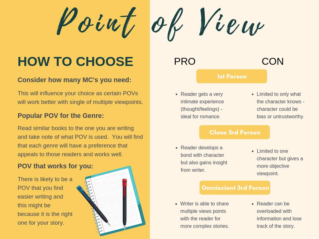 Pros & Cons for each POV