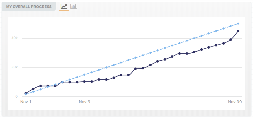 NaNoWriMo Stat Overall Progress